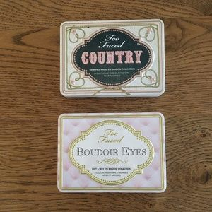 Too Faced Boudoir Eyes and Country Palettes GUC